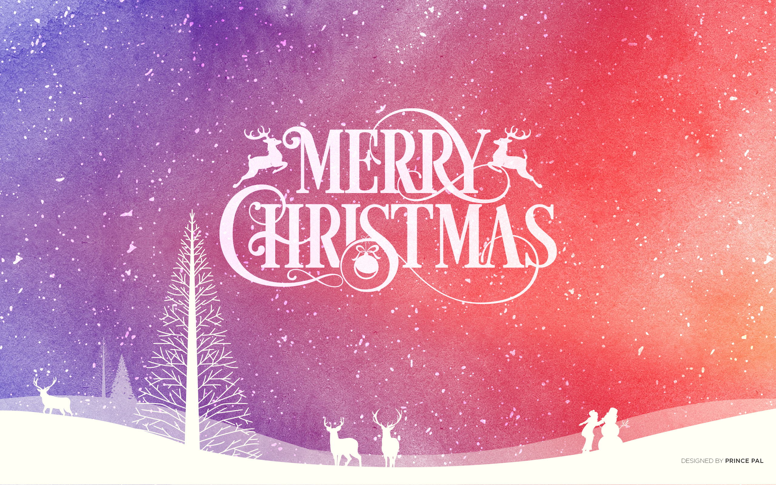 Merry Christmas Background Art