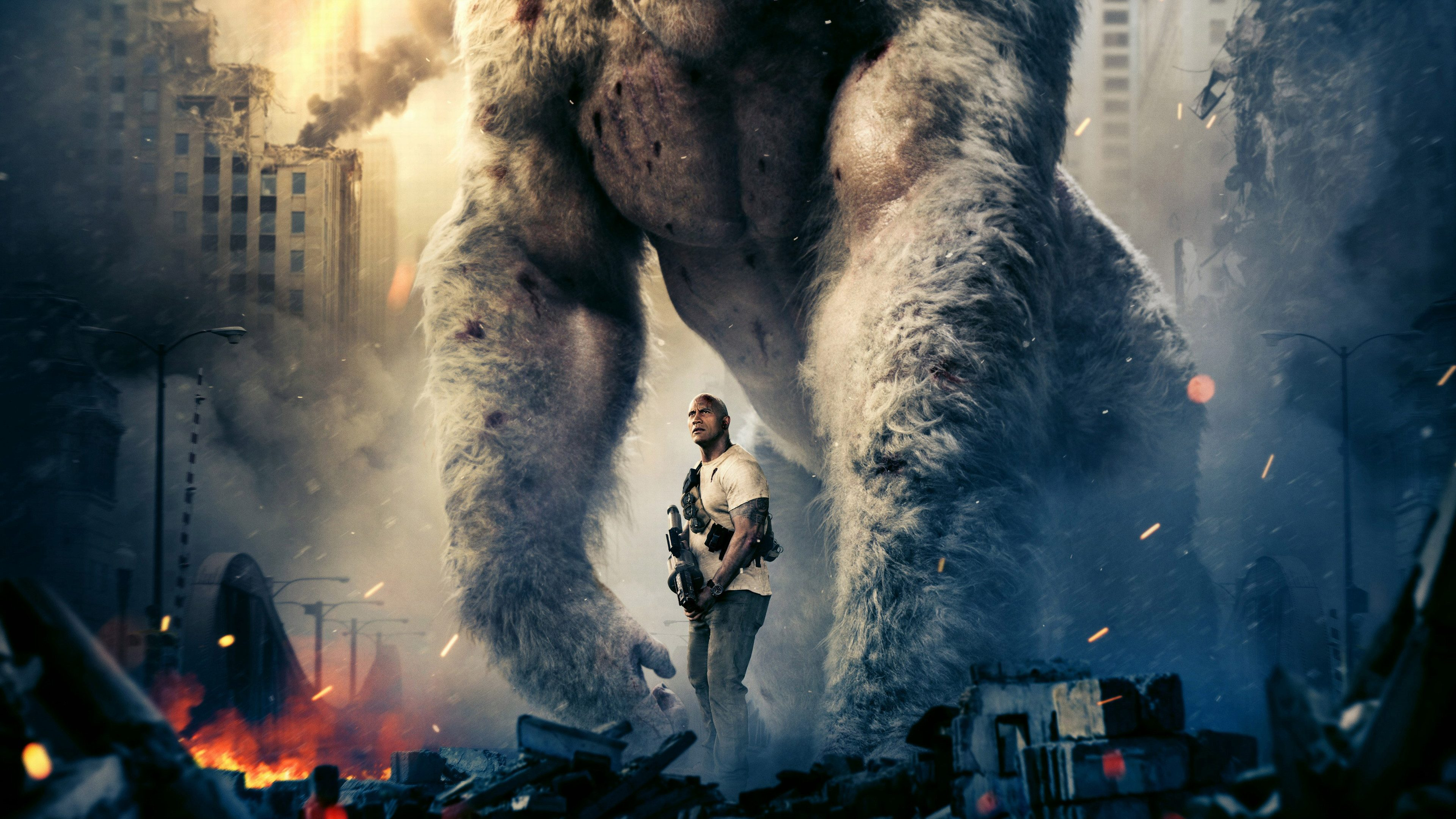 Rampage Movie Hd Wallpapers Download 1080p: Rampage 2018 Movie Wallpaper 4K HD Background