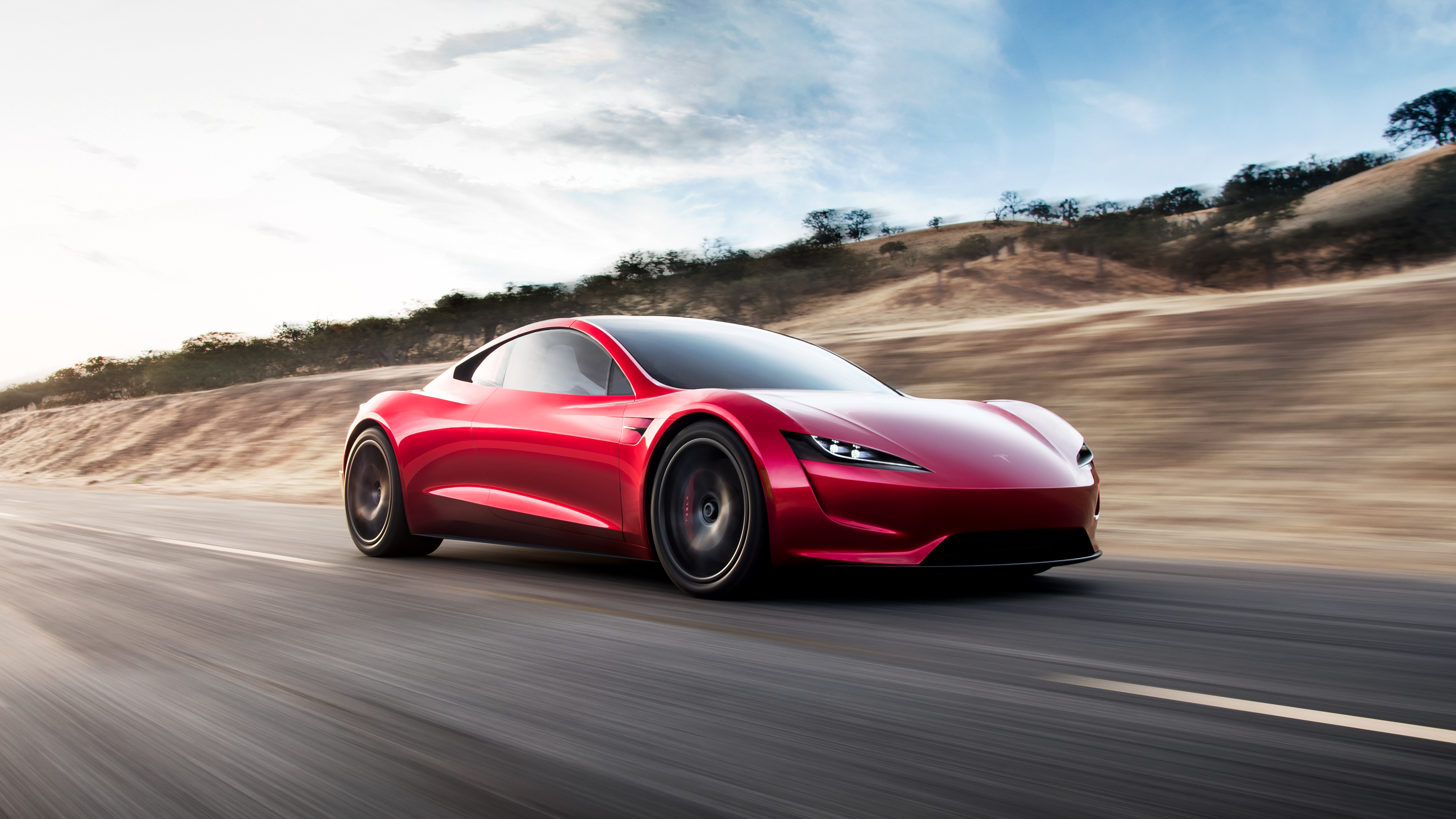 tesla roadster electric supercar 4k hd wallpaper 3840x2160