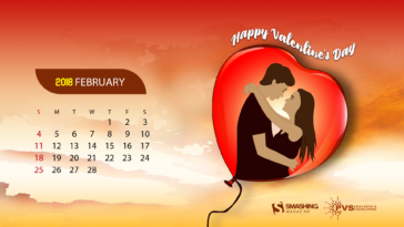 love is in the air February 2018 Calendars Wallpaper desktop-1920x1080