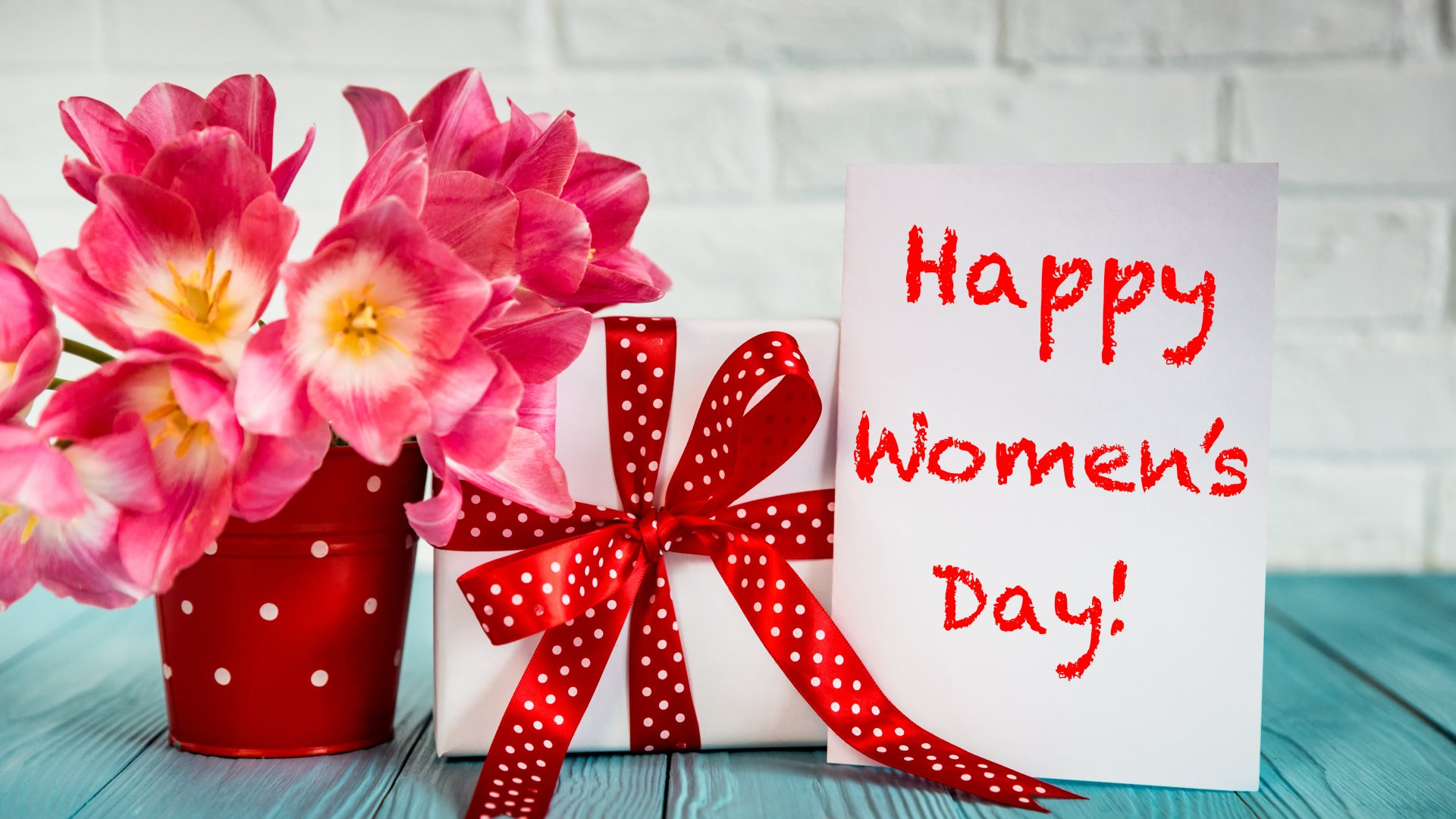 Happy Women's Day Wish Wallpaper HD 1920x1080