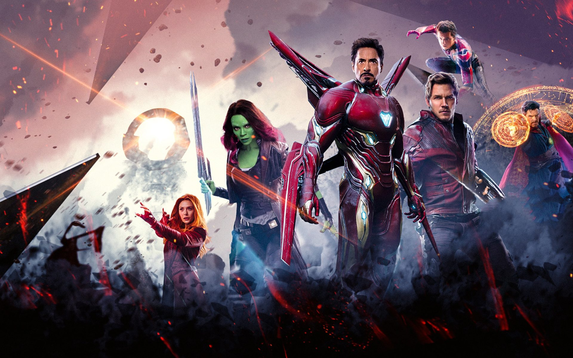 Infinity War Super Heroes Wallpaper Widescreen-1920x1200
