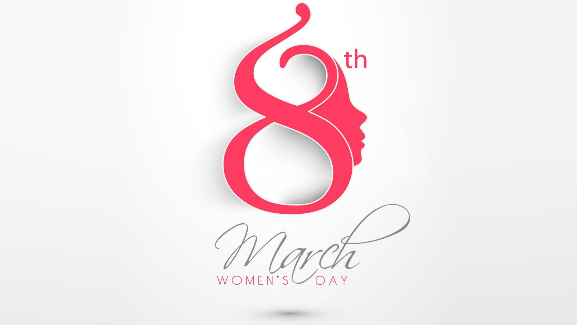 March 8 Women's Day Desktop Background 1920x1080