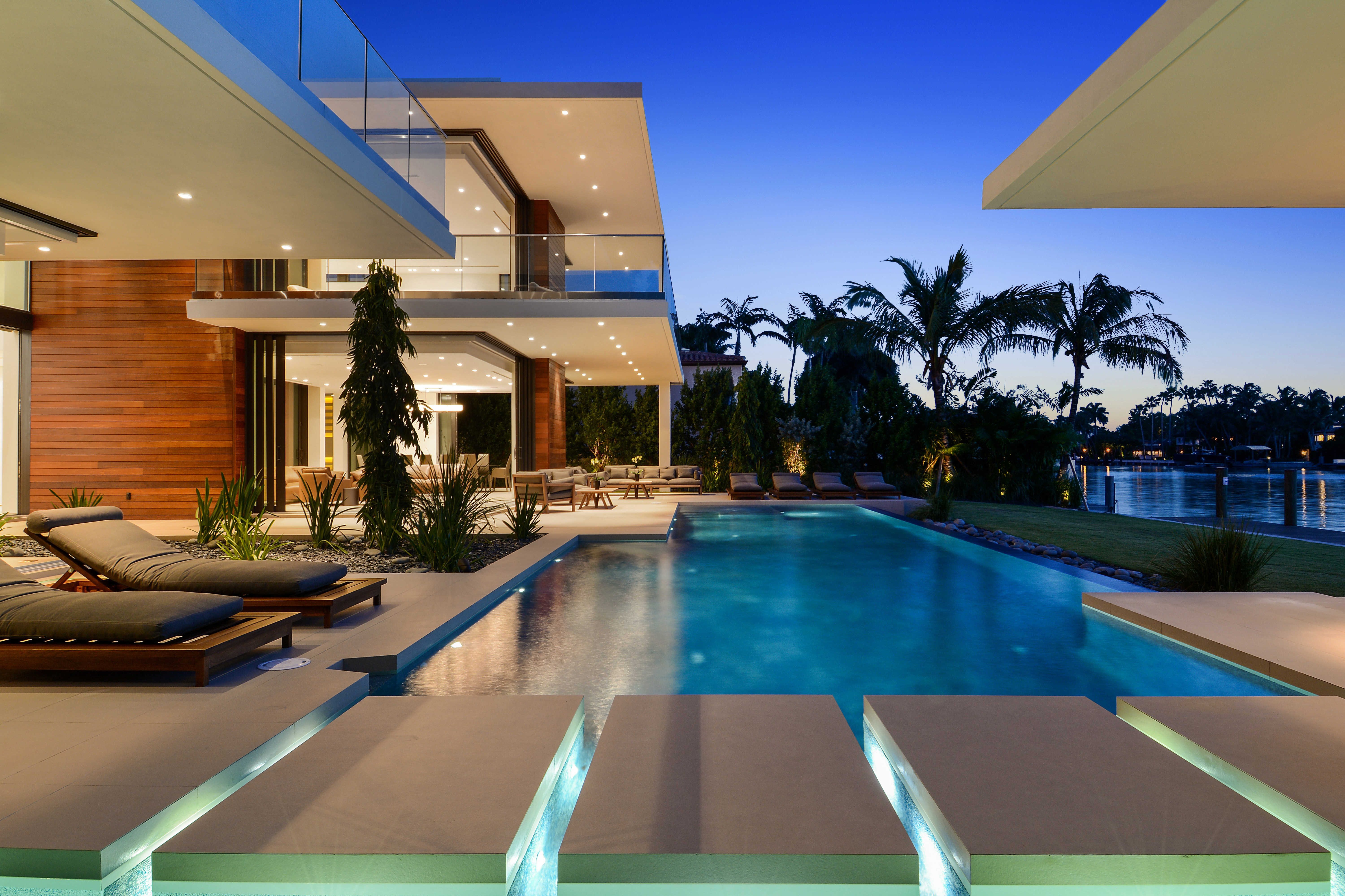 Miami Beach Atrium House Wallpaper 5k High Resolution