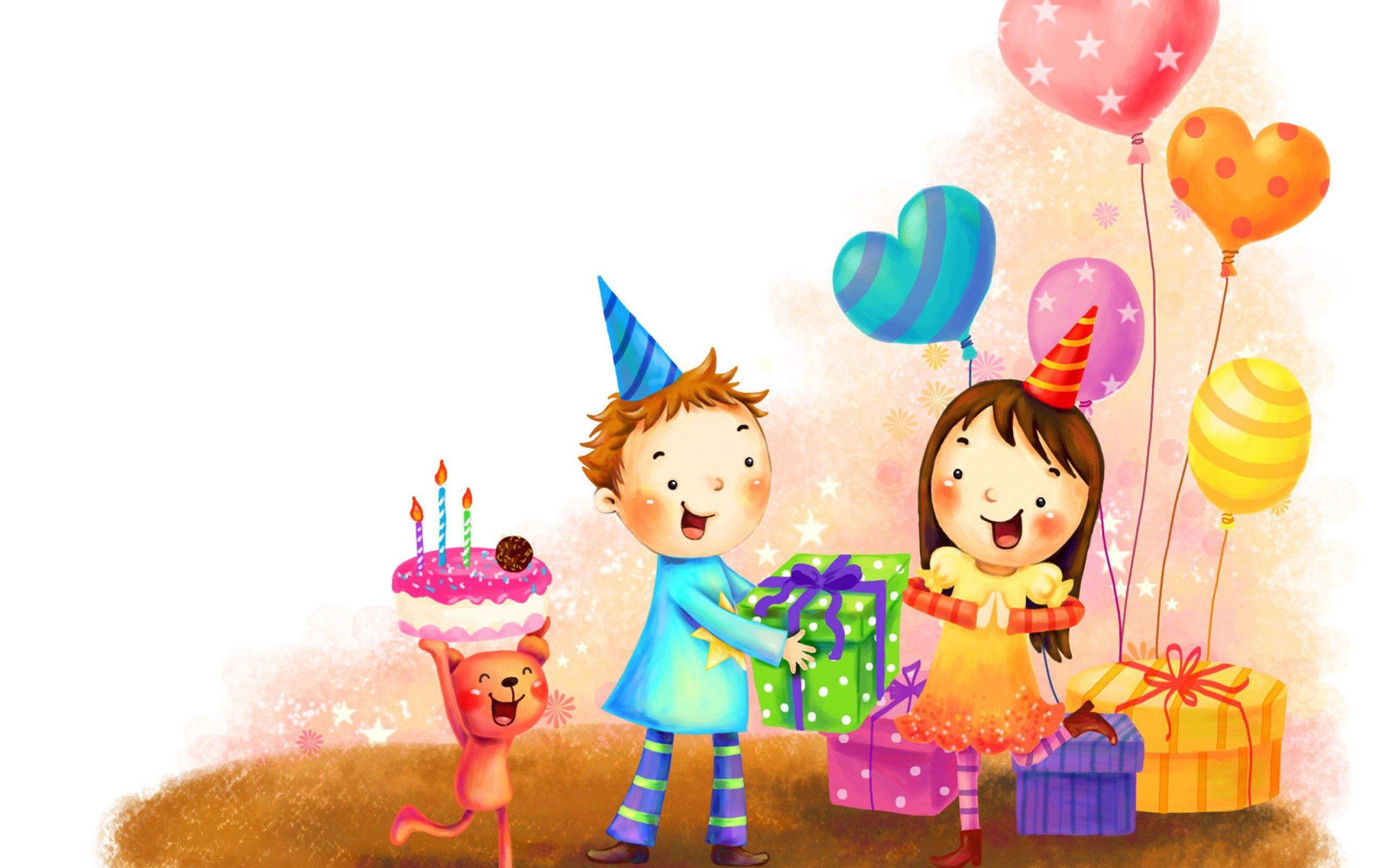 Animated happy birthday gifts image