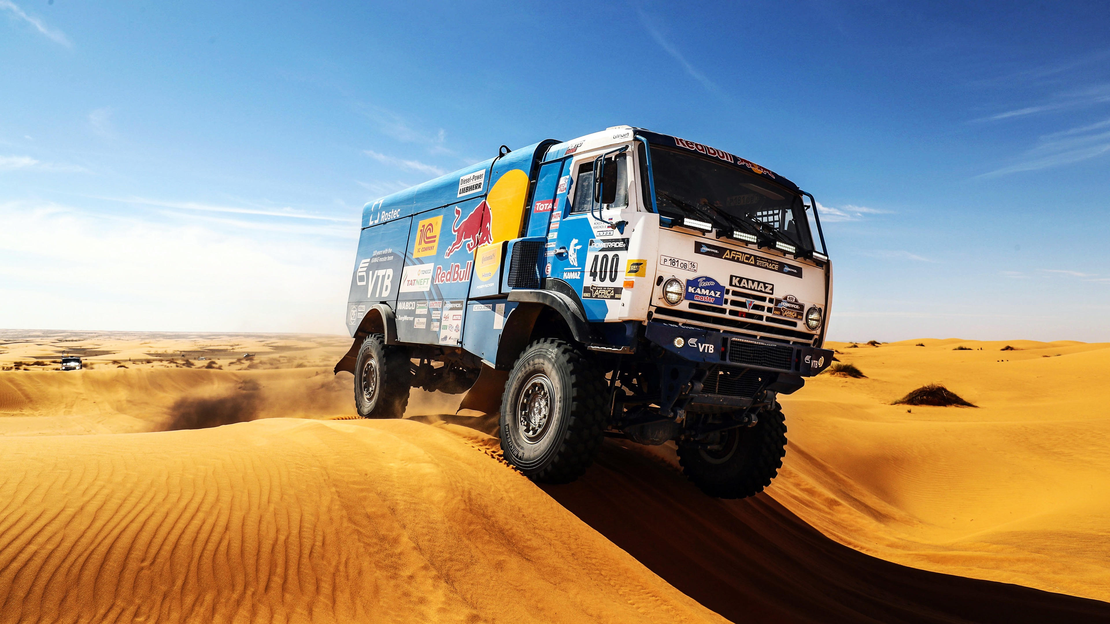 Arid desert car rally competition 4k Wallpaper 3840x2160