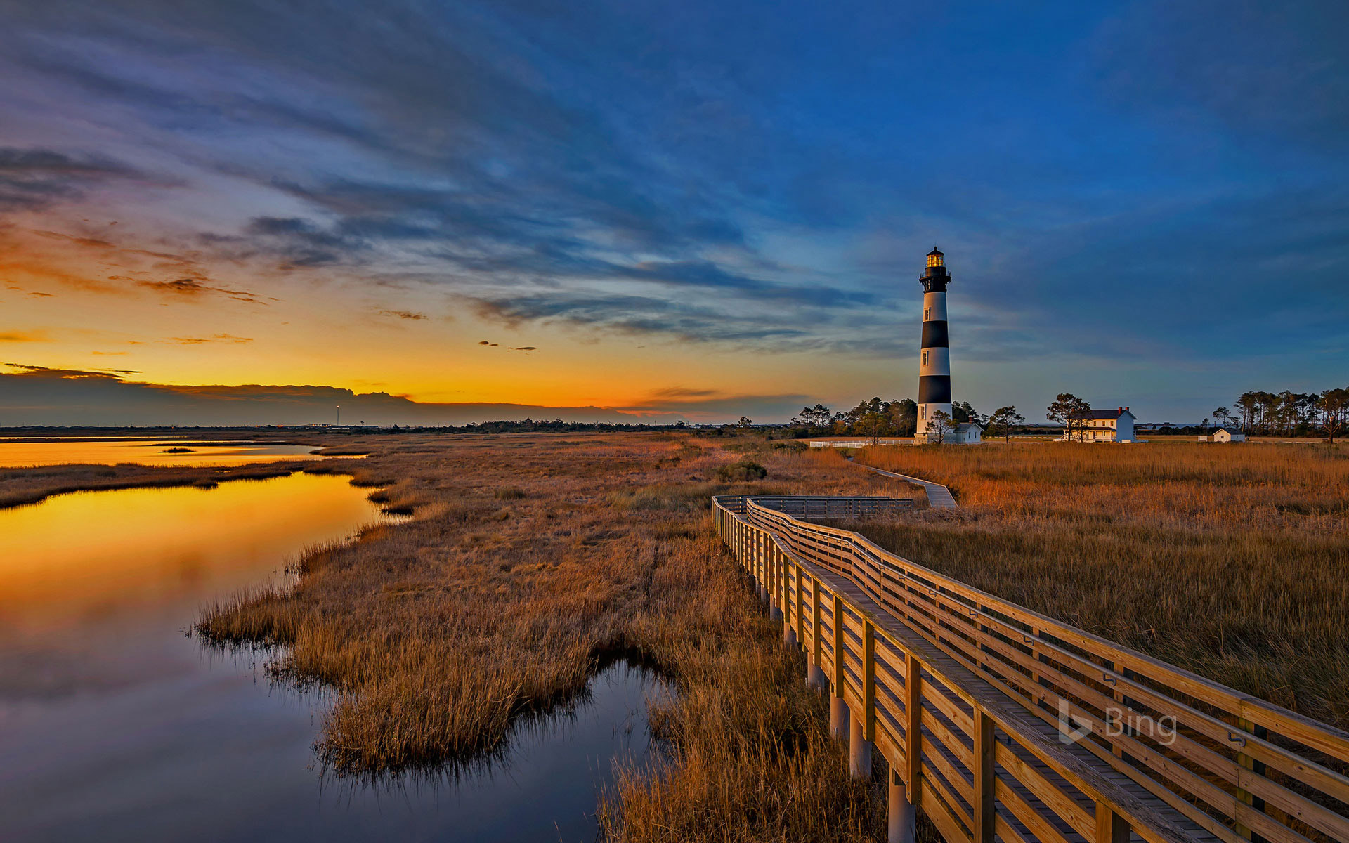 Bodie Island lighthouse along North Carolina's Outer Banks