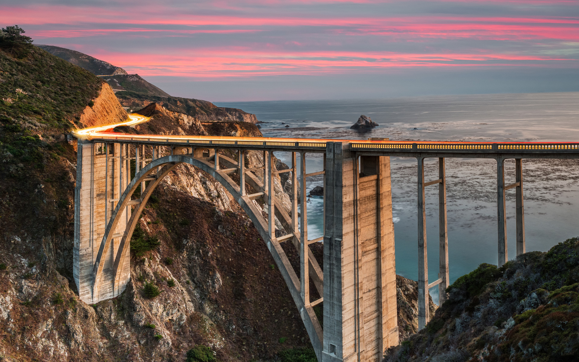 Bixby Bridge at Sunset Big Sur California