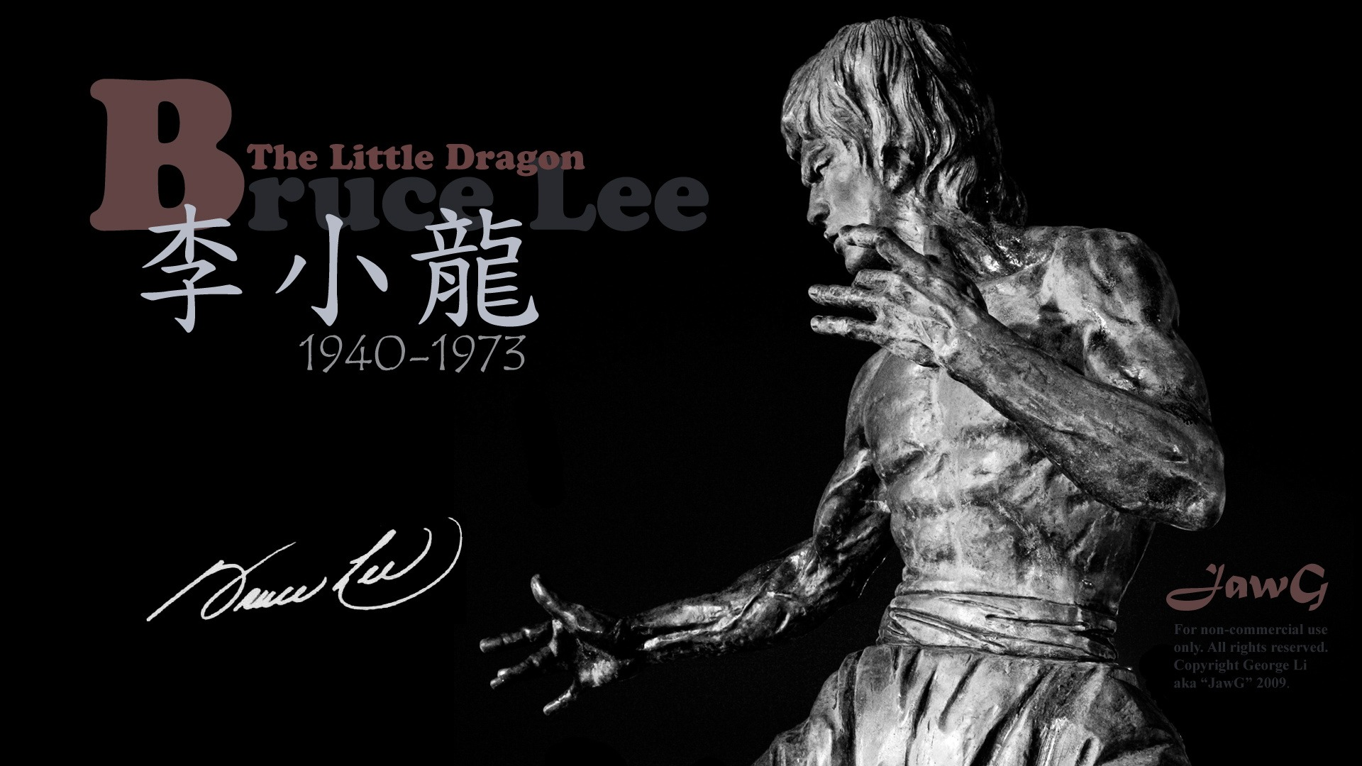 Bruce Lee Art HD Desktop Wallpaper_1920x1080