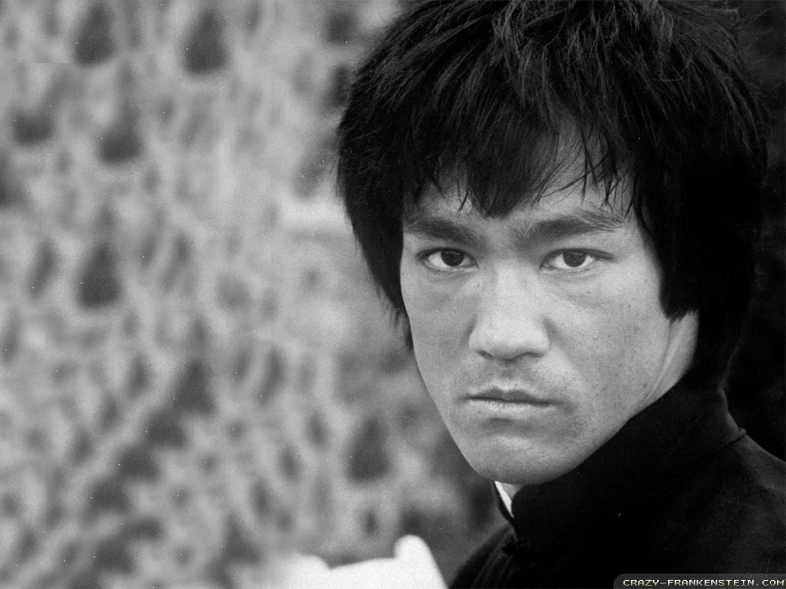 Bruce Lee Black and White Photo