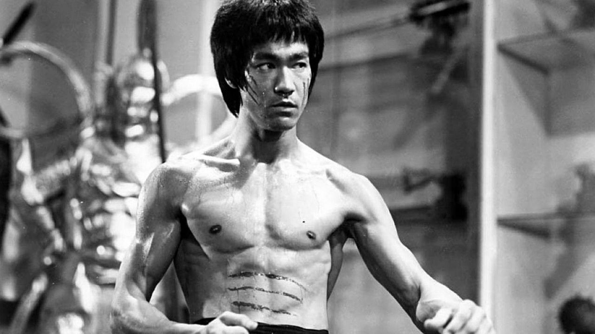 Bruce Lee Black and White Photograph