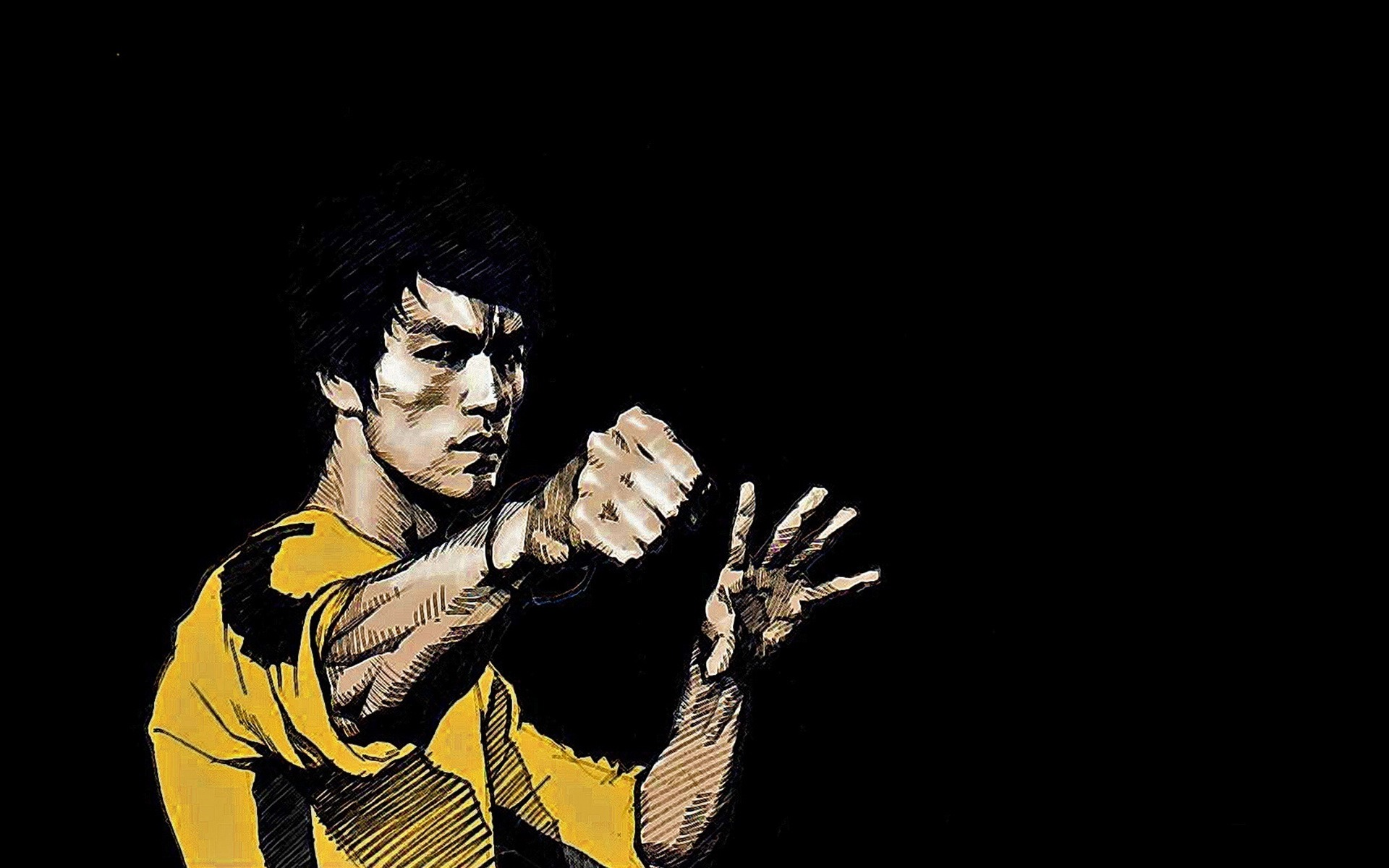 Bruce Lee Drawing Photo 1920x1200