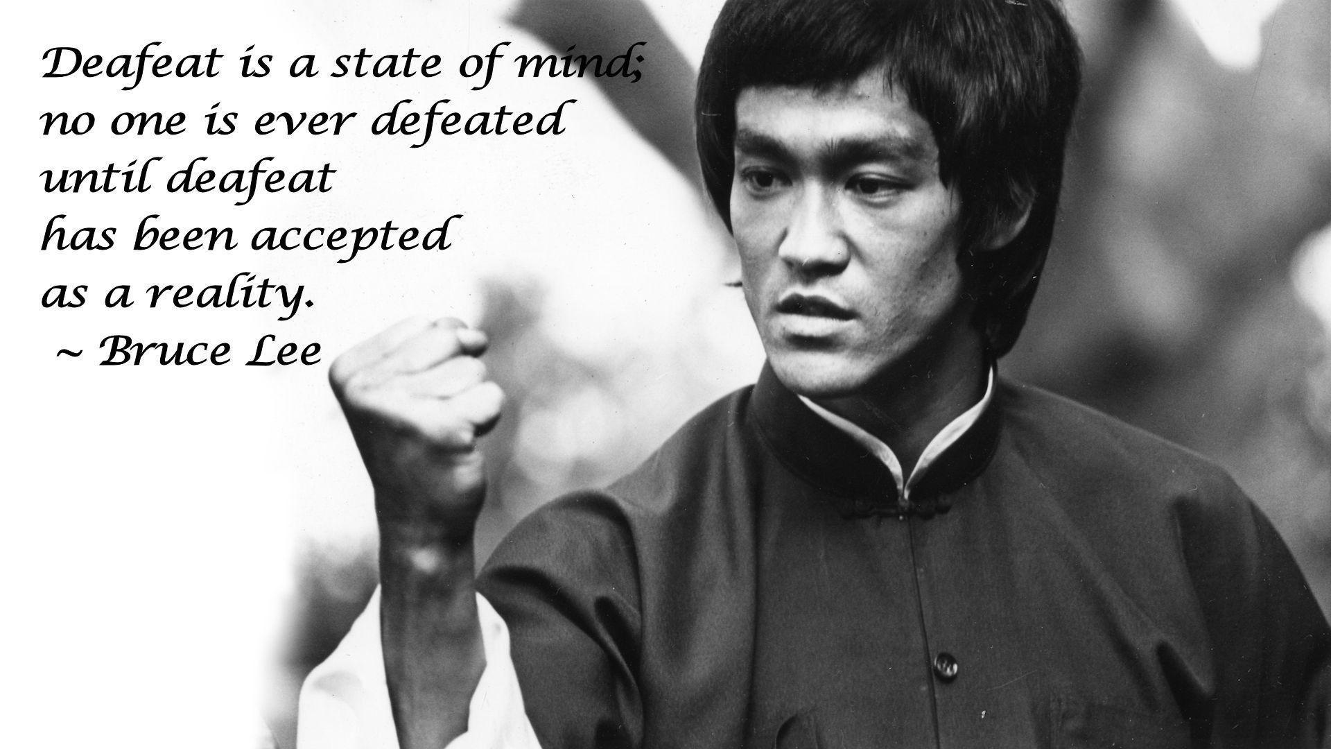 Bruce Lee Quote Desktop Background