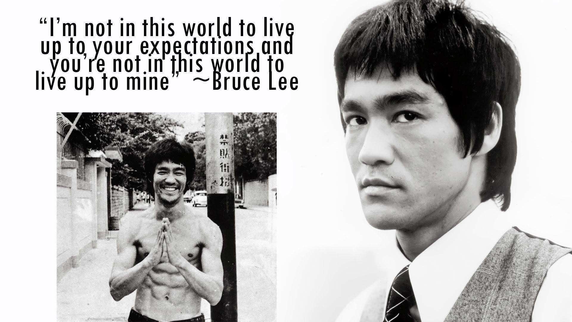 Bruce Lee Quote Desktop Wallpaper