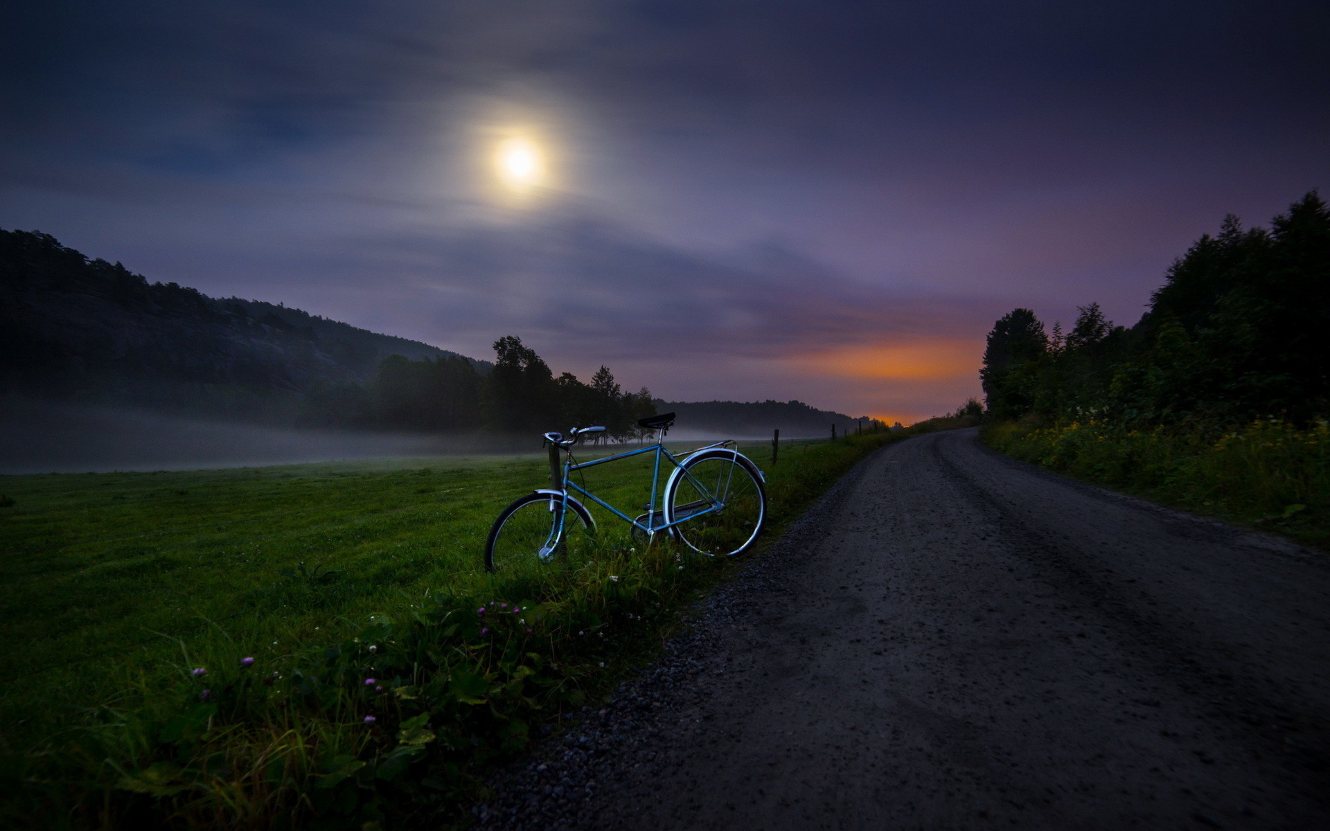 Morning View Countryside Road Wallpapers