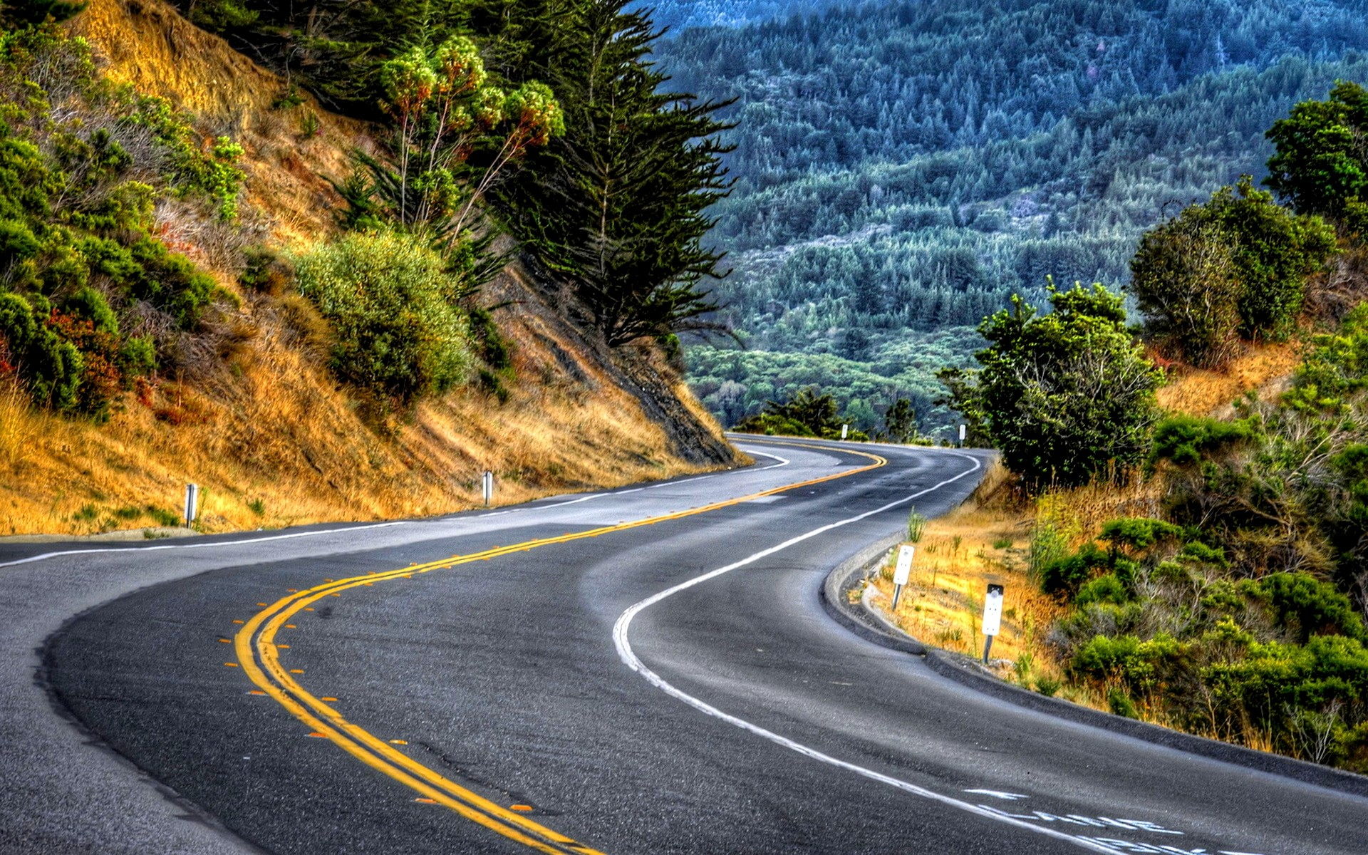 Mountainside Road Background