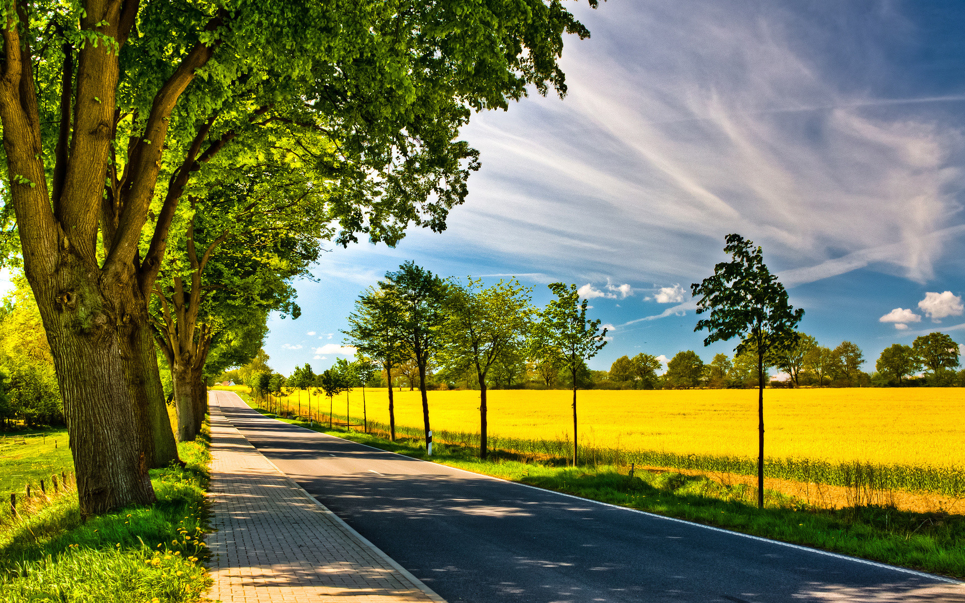 Countryside Roads Wallpapers
