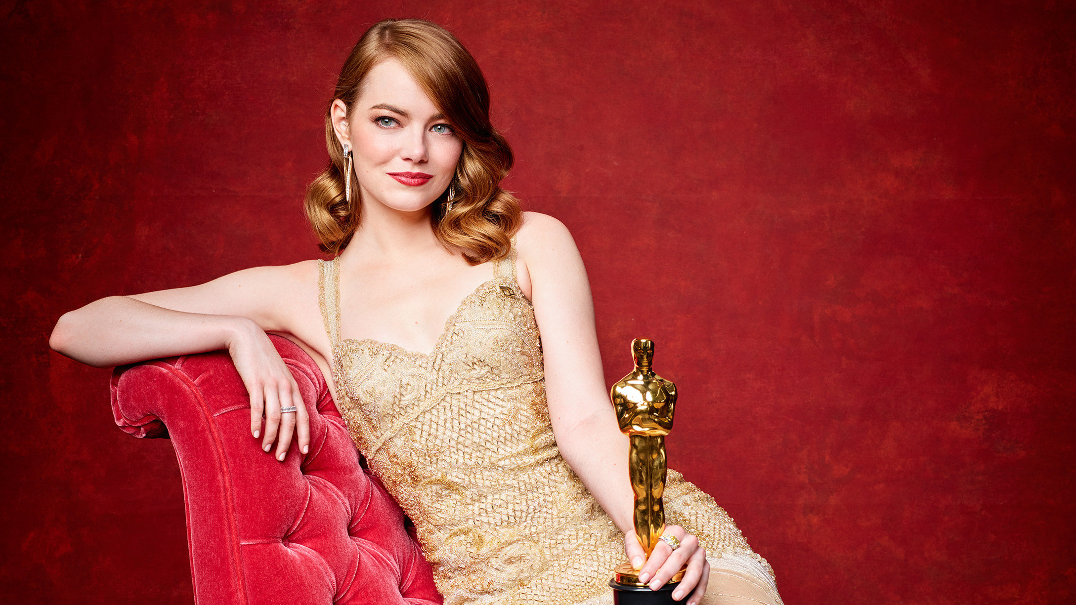 Emma Stone Academy Awards Oscars Photoshoot