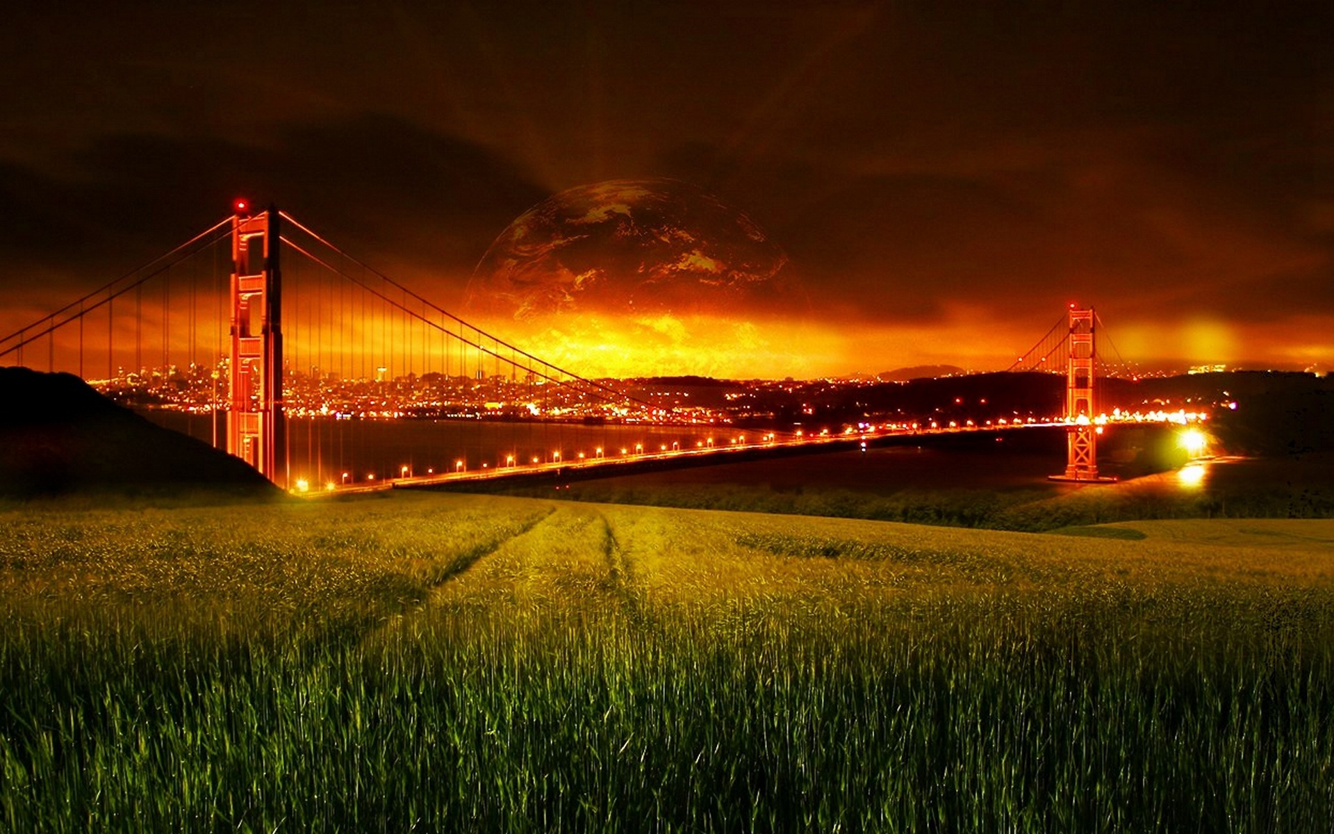 Fantasy Golden Gate Bridge Wallpaper 1920x1200