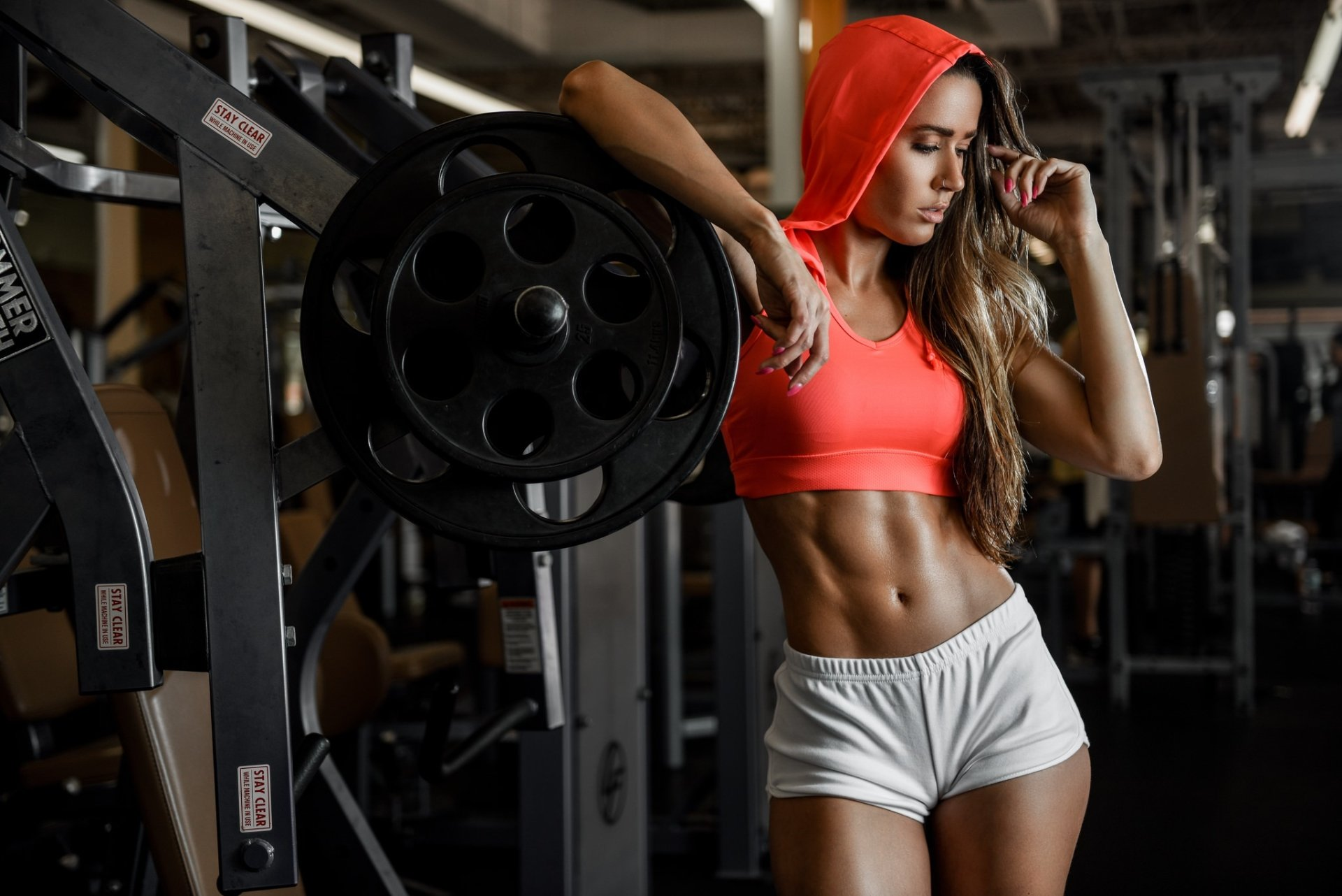 Fit Girl at Gym Pictures Background