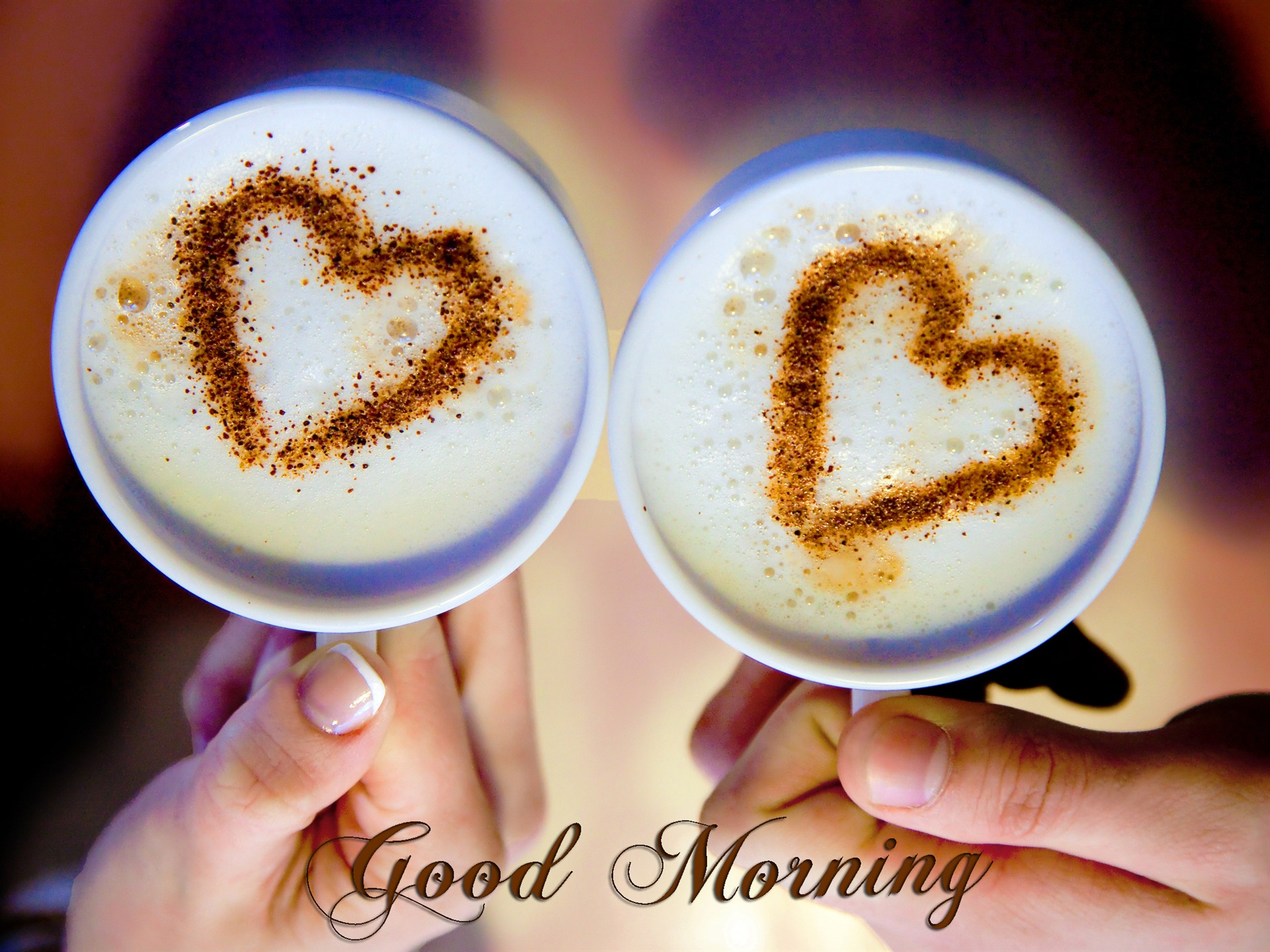 Good Morning Love Coffee Art HD Wallpaper 1920x1440