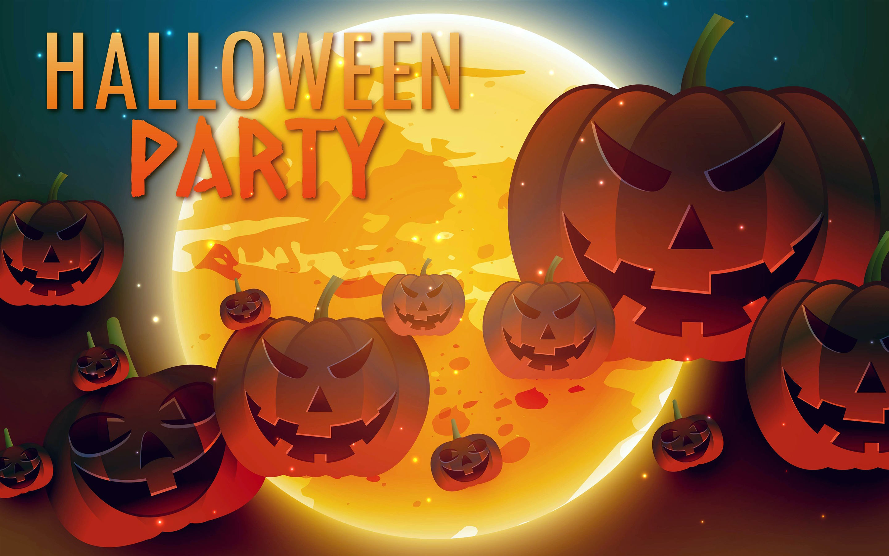 Happy Halloween Party Retina Wallpaper 2880x1800