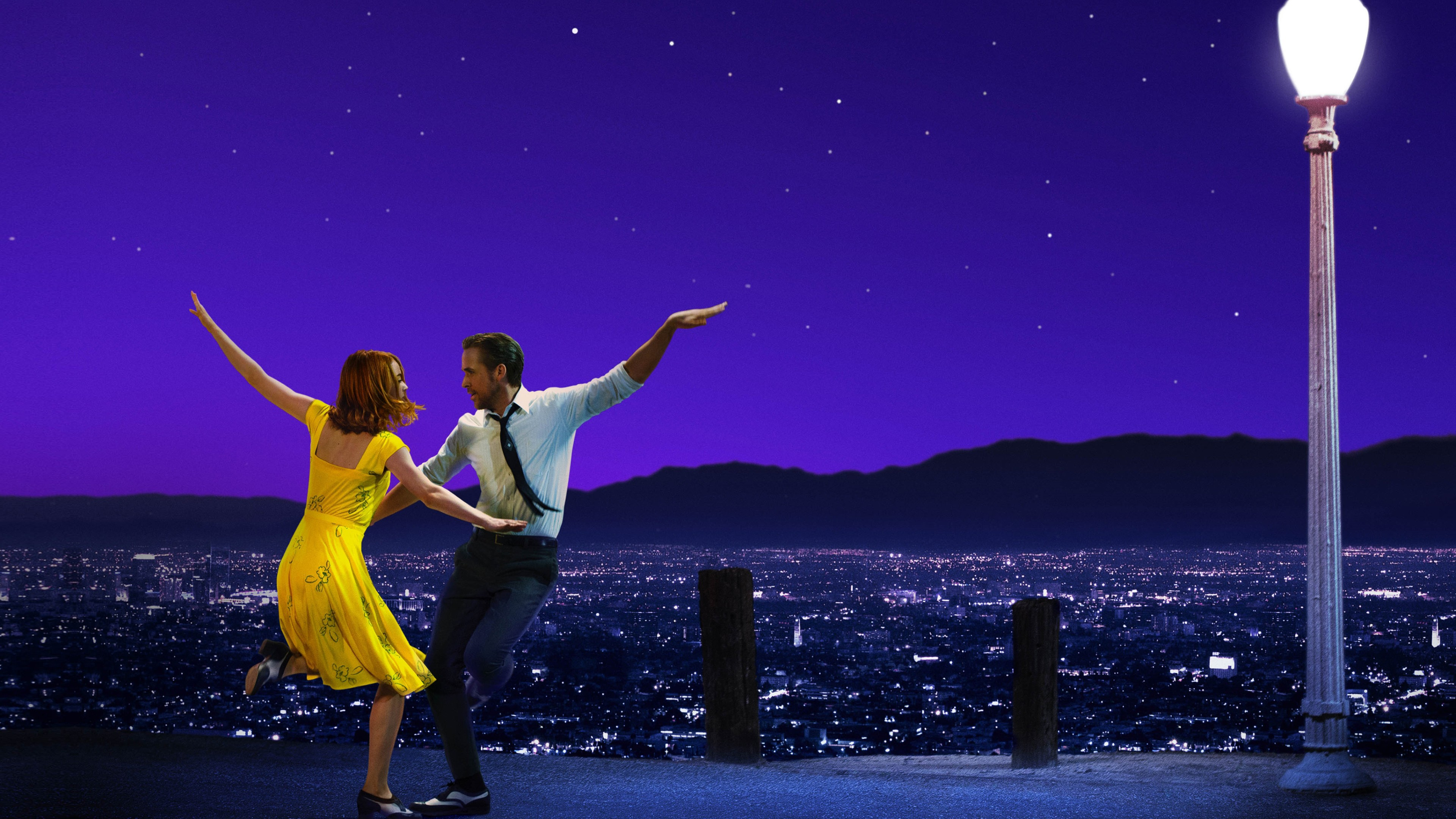 La La Land Ryan Gosling Emma Stone 4K Wallpaper 3840x2160