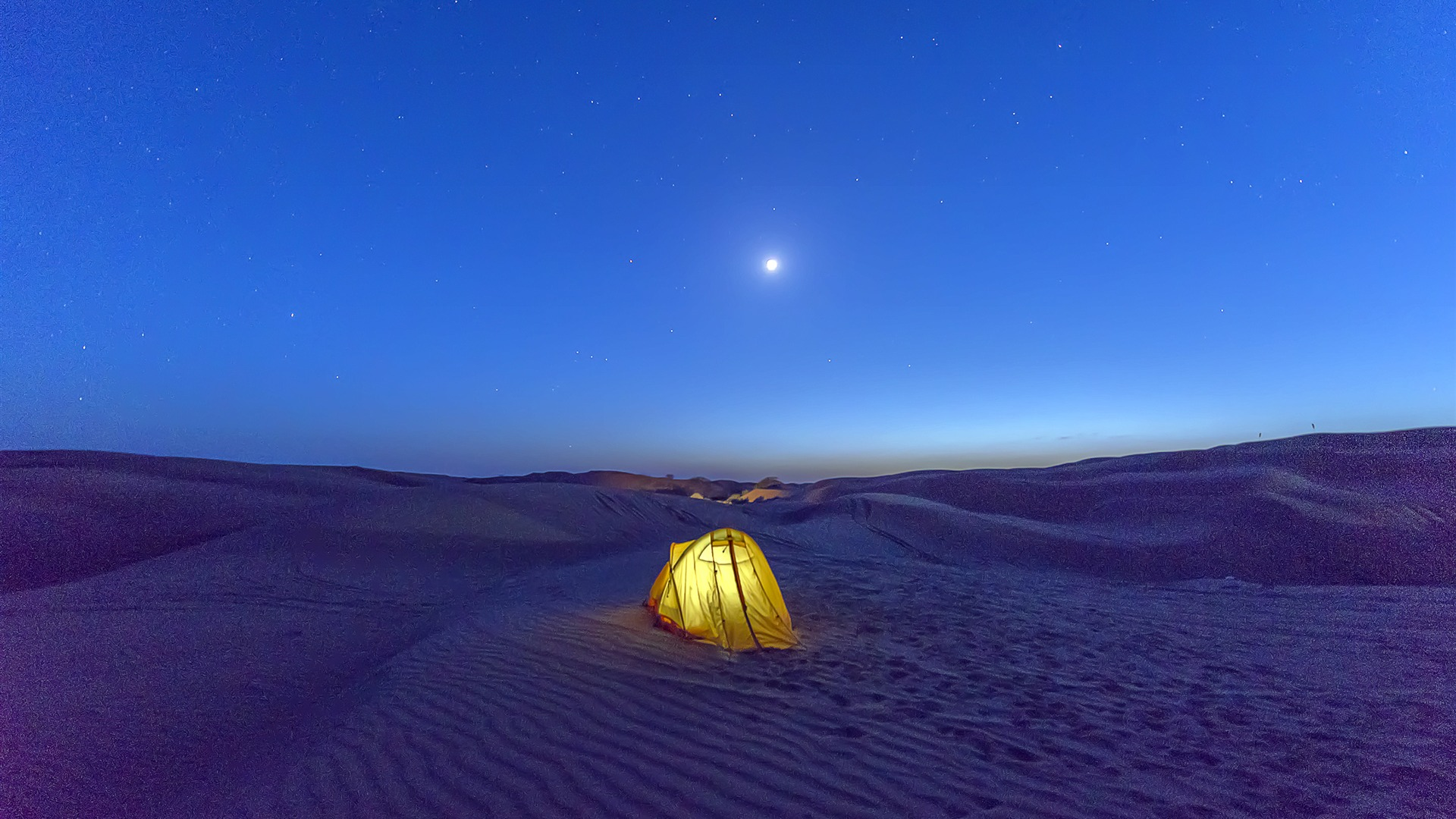 Outdoor tourism desert night starry camping Wallpaper 1920x1080
