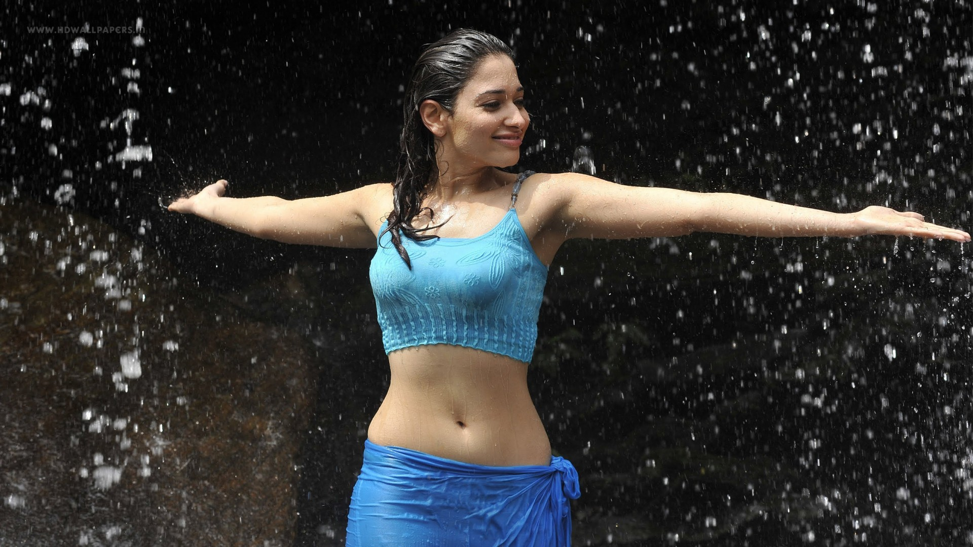 Tamannaah Bhatia Hot Rainy Still Wallpaper
