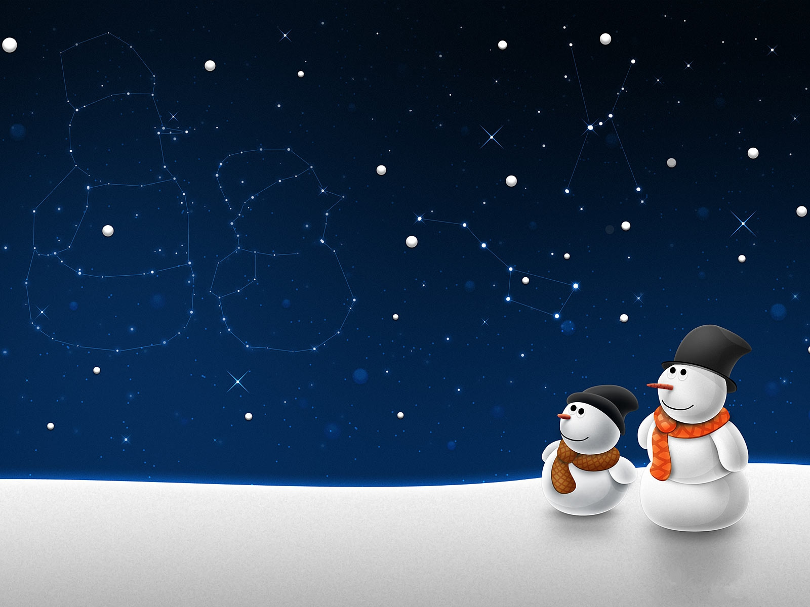 Xmas Snowman Desktop Backgrounds