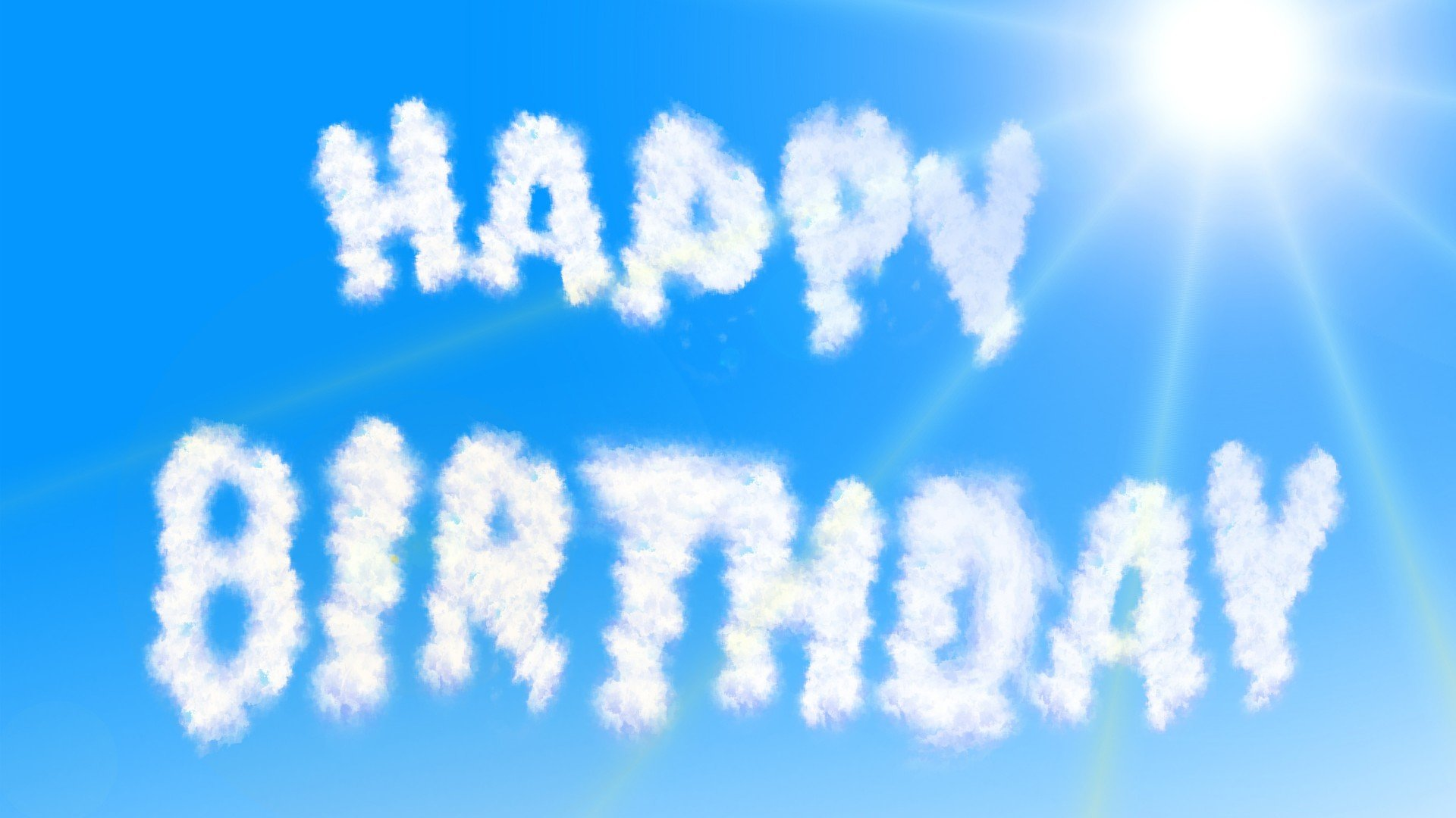 happy birthday clouds text 1920x1080