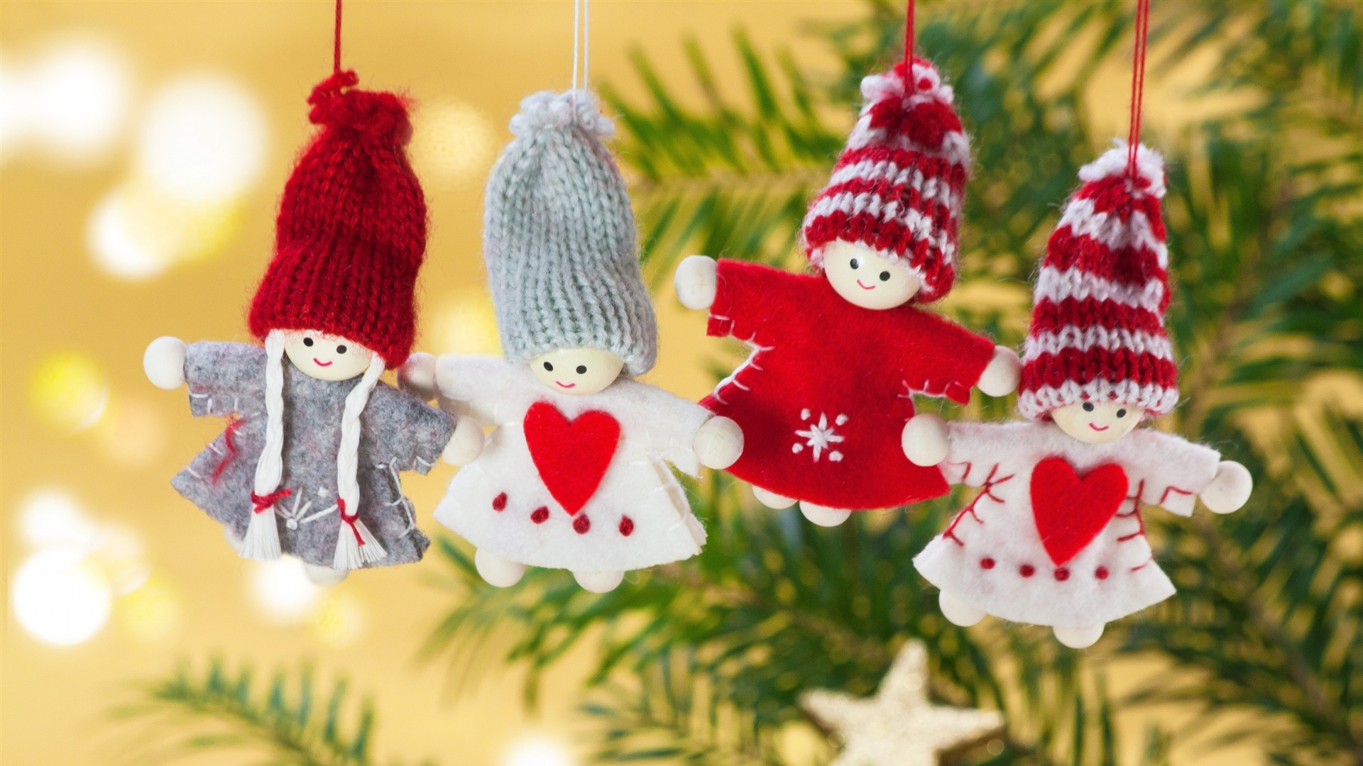 Christmas Toys Angels-Holiday Theme Wallpaper 1920x1080