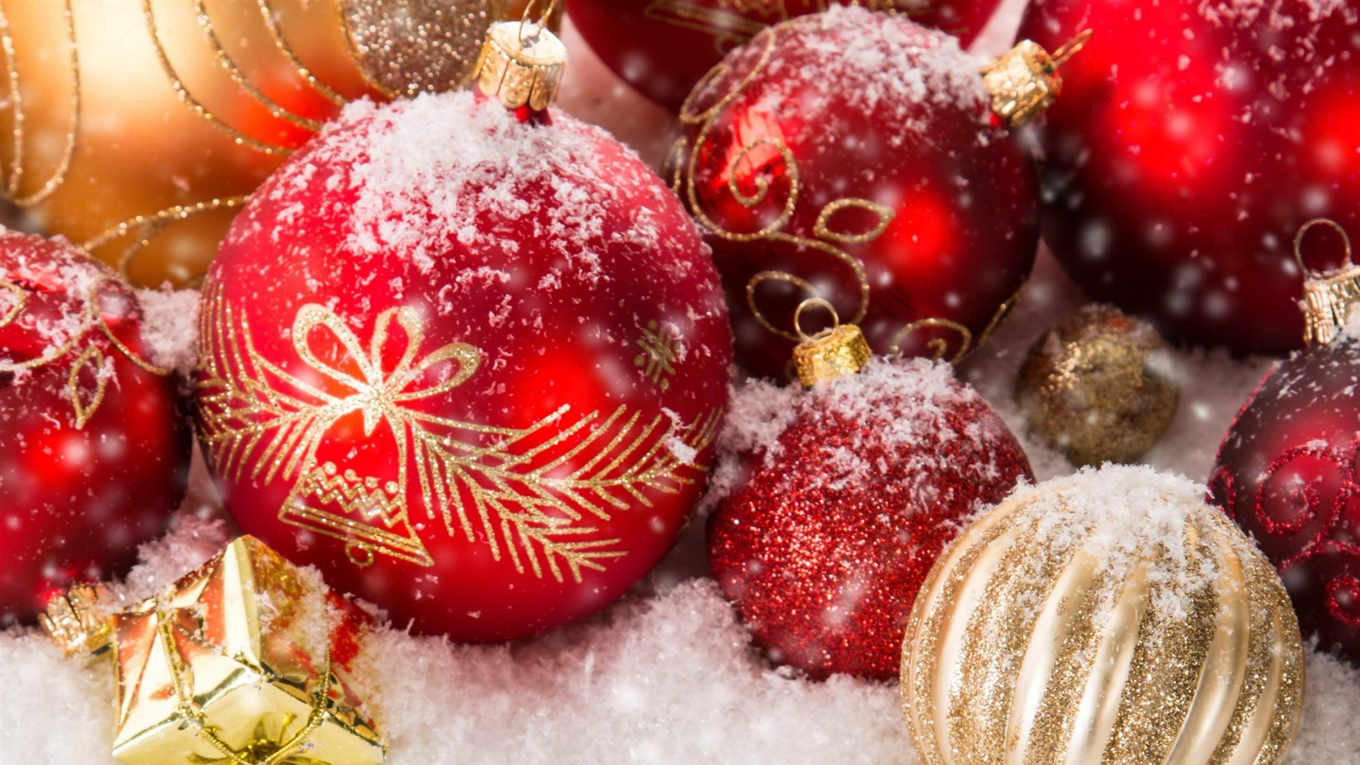 Christmas ornaments-Festival Wallpaper 1920x1080