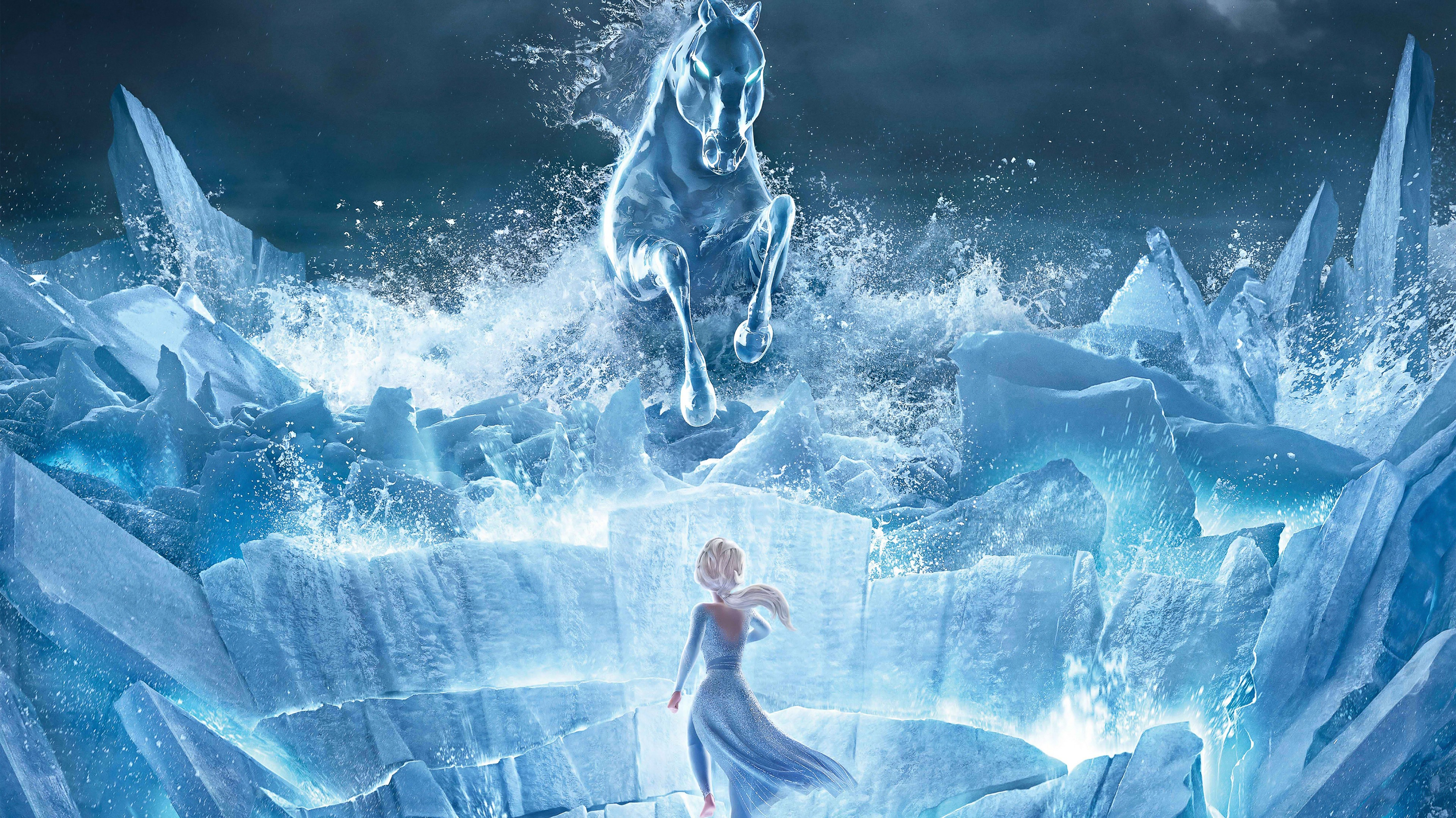 Frozen 2 Queen Elsa 4K Resolution Size 3840x2160 Desktop