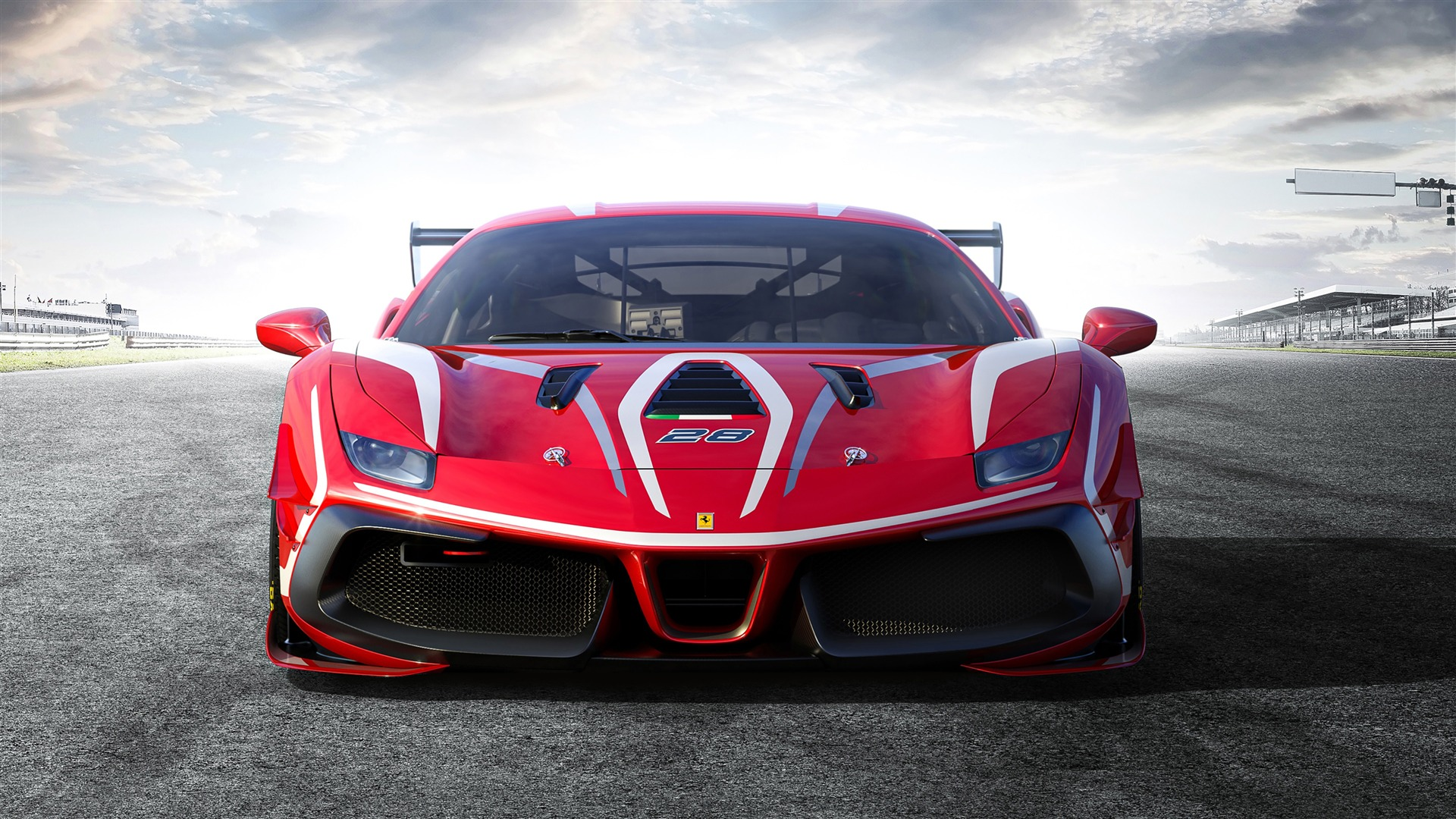 Ferrari 488 Challenge 2020 Supercar Photo 1920x1080